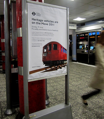 Heritage Vehicles Poster at Old Street Tube
