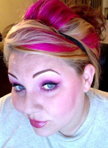 Hot pink hair baby!