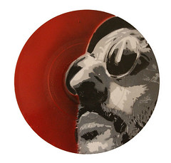Jean reno on vinyl (-icy-) Tags: art robert de stencil iran vinyl record travisbickle icy niro jeanreno tabriz nestormakhno foroughfarokhzad