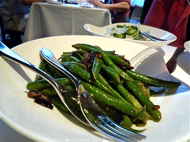 Green beans, eggplant and honey