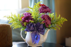 Flowers for You! (Modern Vintage Life) Tags: flowers teapot marthastewart bouquet