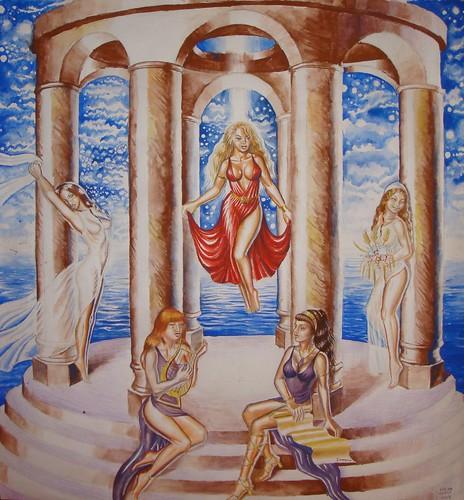 Sappho, fecioarele si Afrodita by you.