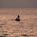 Two men fishing on sunset, Phu Quoc Island, Vietnam