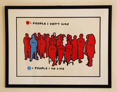 People i like. People i don't like... (id-iom) Tags: uk blue red england people urban dog art cat paper office stencil artist sitting forsale like vandalism brixton dislike idiom