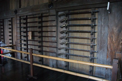 weapons(rifles and spears) in the Himeji Castle