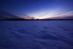 (Joni Niemelä) Tags: blue winter snow cold clouds finland venus purple pentax horizon freeze bluehour sigma1020mm k10d pentaxk10d