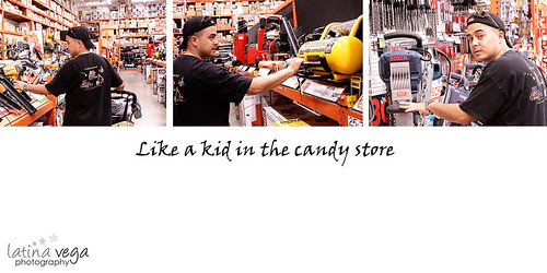 kid in candy store