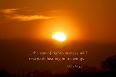 The Sun of Righteousness Will Rise With Healing In Its Wings (honey 77) Tags: sky sun mountain nature silhouette sunrise wings god jesus halo lord christian christianity inspirational healing righteousness scriptures bibleverse inspiks|inspirationalpictures