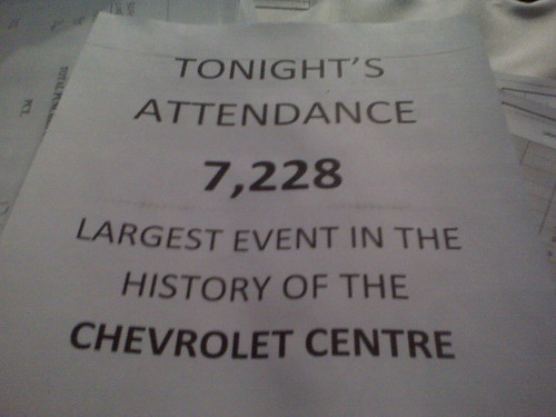 Record breaking night at the chev!
