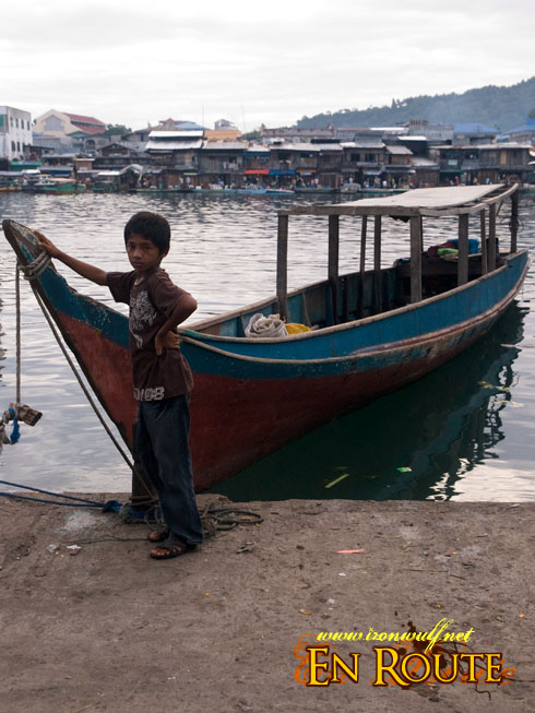 Chinese Pier Boy and Boat