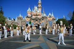 Disneyland Band and Characters at Sleeping Beauty Castle (armadillo444) Tags: disneyland band mickey sleepingbeautycastle