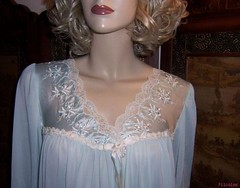 Miss Elaine Blue Antron Nylon Nightgown Bodice Front (mondas66) Tags: nylon nightgown nightdress nightie misselaine antron