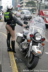 Female Traffic cops rule the streets of Lima