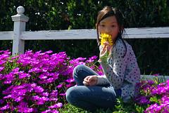 savannah purple flower (9) (dan stefani) Tags: bridge flower cute dan girl train model pretty child bass guitar tracks rocker savannah hobo hmong supreme stefani moua