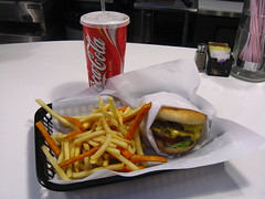 double cheeseburger combo @ Dtown Burger Bar