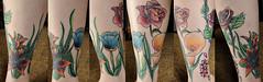 My Floral Sock (La Photographie Nashville) Tags: flowers tattoo ink sock 365 1365