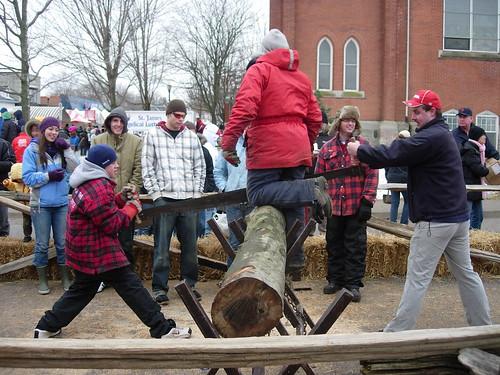 log rawing