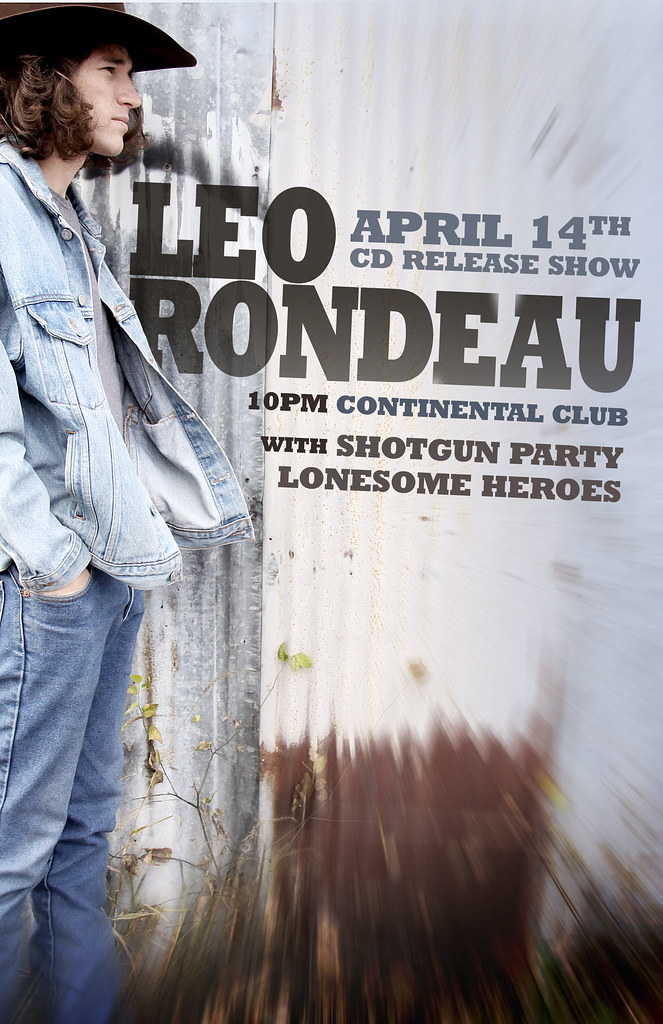 Leo Rondeau CD Release Poster