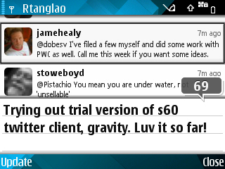 Gravity s60 twitter client Screenshot0069