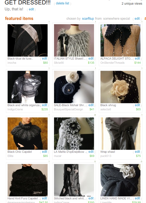 Get Dressed!  Treasury by Scarfitup!