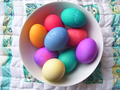 Dyed eggs by E. Magee