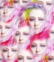 Being Watched (wisely-chosen) Tags: selfportrait april pinkhair 2009 picnik cameraraw rainbowhair adobephotoshopcs4 manicpanichothotpink manicpanicredpassion coastalscentsultrashimmer88eyeshadowpalette manicpanicbadboyblue manicpaniclielocks manicpanicelectricbanana rainbowfalseeyelashes