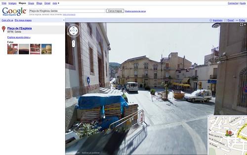 Google Street View al Penedès - Plaça de l'Església de Gelida