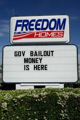 Freedom Homes, Government Bailout Money