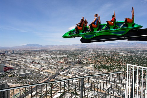 Thrill Ride (Super Shot) on top of the Stratosphere, Las Vegas