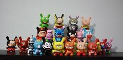 Cartoons Serie (WuzOne) Tags: toys vinyl kidrobot spongebob mickeymouse thesimpsons custom cartoons ralph dunny captaincaveman fatcap munny wuzone