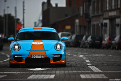 9FF BT-2. (Denniske) Tags: 2 cars coffee colors canon eos is colours gulf 911 porsche l antwerp 70200 2009 bt f28 antwerpen gt2 997 bt2 9ff 40d