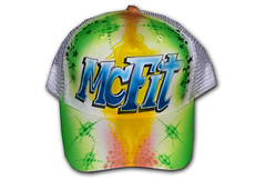 Airbrush Cap Mc Fit (cokyone) Tags: portrait hat graffiti stencil comic mesh painted caps cartoon cap spongebob pilze truckercap tupac airbrush mtzen scarface fusball unikat derpate