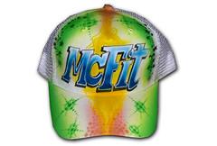 Airbrush Cap Mc Fit (cokyone) Tags: portrait hat graffiti stencil comic mesh painted caps cartoon cap spongebob pilze truckercap tupac airbrush mützen scarface fusball unikat derpate