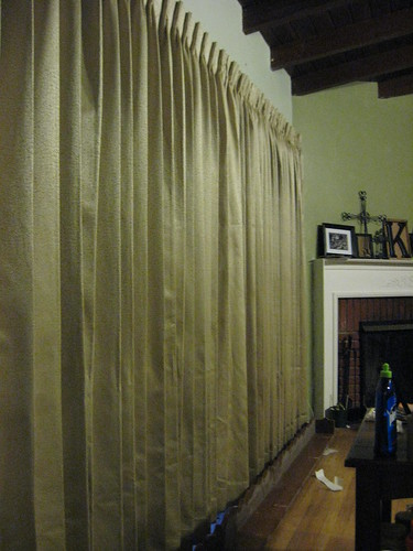 the completed drapes at night