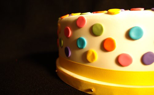 Polka Dot Birthday Cake 1