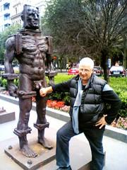 Iron Man Prague (stuartwildeblog.com) Tags: man iron prague wilde praha stuart