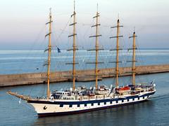 The Royal Clipper enters Civitavecchia (Rome) Harbor (BillGraf) Tags: rome sailing sail schooner sailingship wwb royalclipper 1408 aplusphoto grafwilliam 5masted billgraf