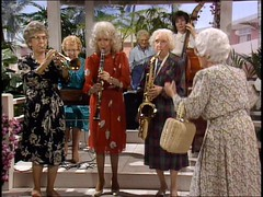 Sophia Petrillo directs a band
