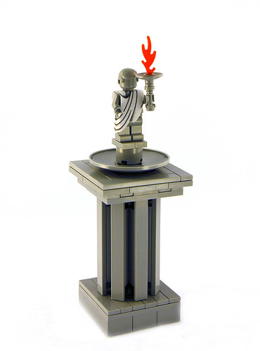Toga on Olympic Minifig statue