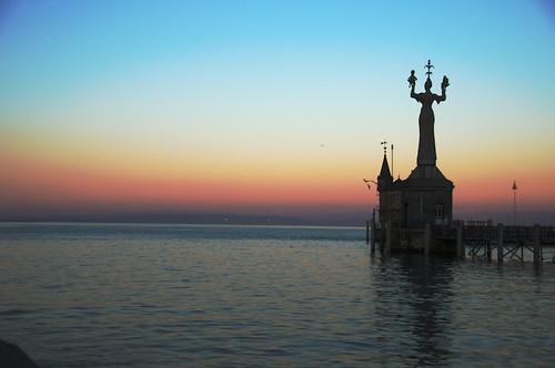 Imperia im Sonnenuntergang