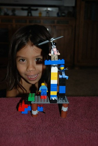 Livie and her lego creations