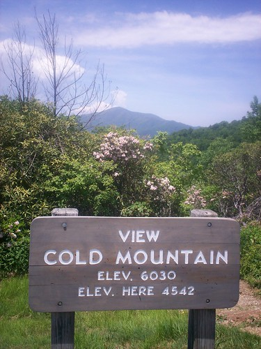 view of cold mountain from blue ridge parkway