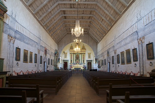 The inside of the faithfully reconstructed church.