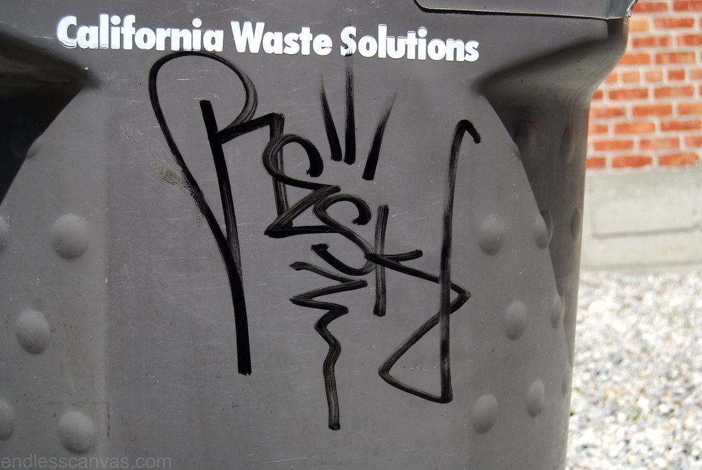 RESK Graffiti Tag Handstyle in Oakland California.