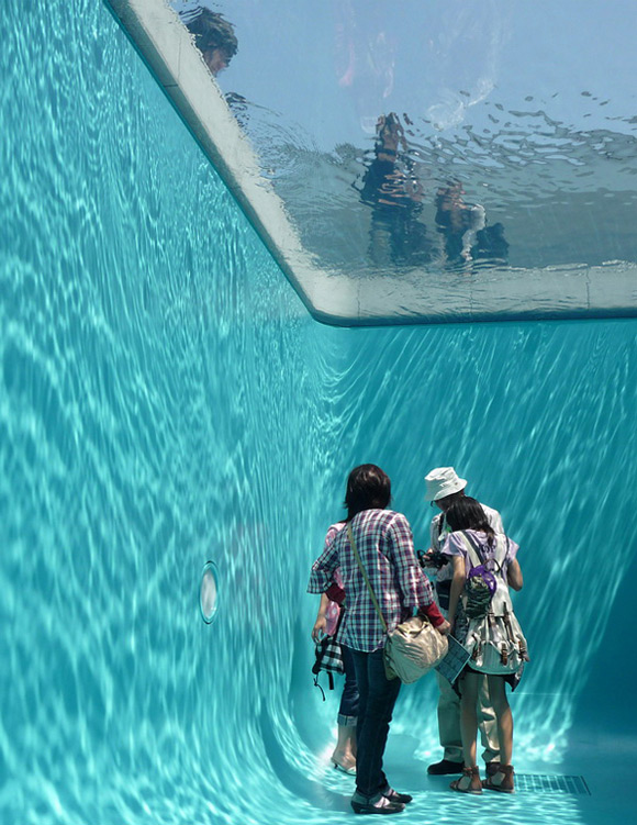 Simulated-swimming-pool-with-room-inside