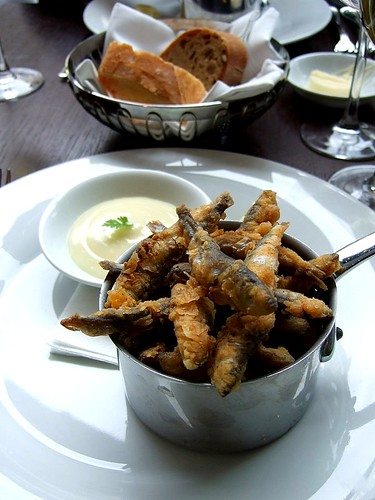 spicy fried whitebait, 101 Pimlico Road