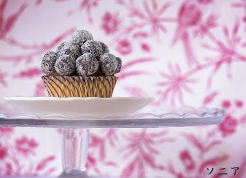 Cupcake de coco y trufa