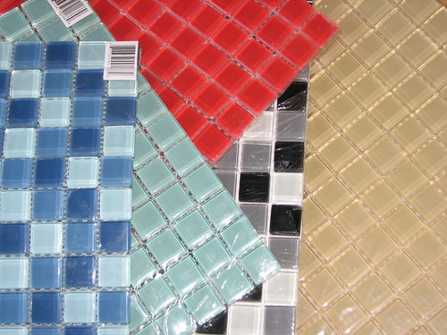 Distressed Glass Tile Charms 001