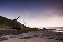 Wrecked!! (Dave Brightwell) Tags: water sunrise scotland sand scenery ship sony sigma shipwreck shore wreck 1020mm kirkcudbright a550