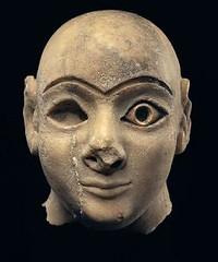 A Sumerian Head of a Worshipper (Ancient and Medieval Art & Numismatics) Tags: art ancient worshipper mesopotamia alabaster neareast sumerian sumeria